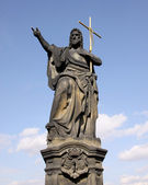 Jesus with cross at Charles bridge. — Stock Photo