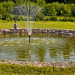 Stock Photo: Fountains in garden