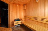 Empty Sauna — Stock Photo