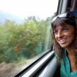 Emotions from a train window — Stock Photo