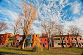 Burano Venice the buildings' colours — Stock Photo