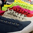 Colored sports shoes, rubber and canvas — Stock Photo