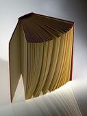 Hardback book opened vertically — Stock Photo