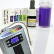 Alkaline water generator test ph reagent — Stock Photo