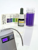 Alkaline water ionizer test ph reagent — Stock Photo