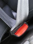 Fasten seat belts in the car — Stock Photo