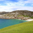 Panoramic highland scotland beach — Stock Photo