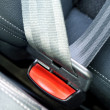 Stock Photo: Fasten seat belts in car for safety