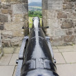 Stock Photo: Cannon between battlements of castle