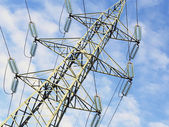 Power Plant High Voltage Pylons View From Above — Stock Photo