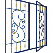 Royalty-Free Stock Photo: Wrought iron window grille