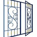 Постер, плакат: Wrought iron window grille