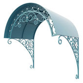 Wrought iron canopy — Stock Photo