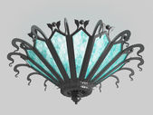 Chandelier on a gray background — Stock Photo