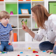Angry mother scolding disobedient child — Stock Photo #41567697
