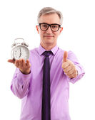 Business Man and Clock — Stock Photo