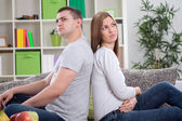 Upset couple with marital problems — Stock Photo
