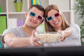 3D movie — Stok fotoğraf