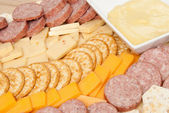 Meat and Cheese Platter — Stock Photo