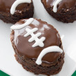 Stock Photo: Football shape brownies