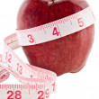 Royalty-Free Stock Photo: Apple and Tape Measure