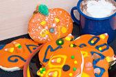 Cookies e chocolate quente — Fotografia Stock