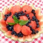 Постер, плакат: Watermelon and blueberries