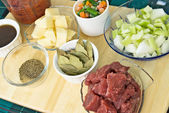 Beef Soup Ingredients — Stock Photo