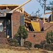 Tornado damaged house — Stock Photo