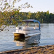 Pontoon Boat — Stock Photo