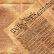 Stock Photo: Constitution of United States