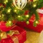 Christmas Tree and Presents — Stock Photo