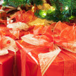 Christmas presents under the tree — Stock Photo