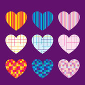 Beautifull Hearts — Stock Vector