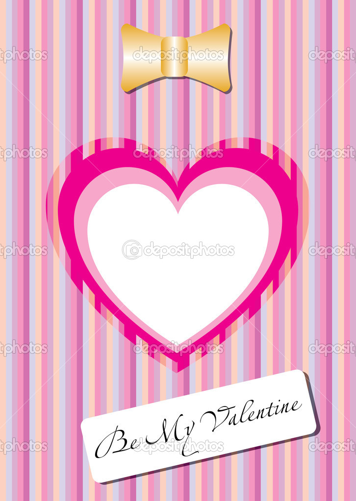 Vertical pink card with heart for the Valentine's Day — Stock Vector #20092373