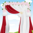 Stock Vector: Wedding Arch