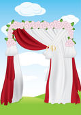 Wedding Arch — Stock Vector