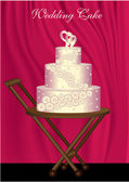 Wedding Cake — Stock Vector