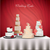 Wedding Cakes — Stock Vector