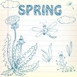Stock Vector: Spring Doodles