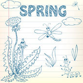 Spring Doodles — Stock Vector