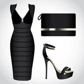 Little Black Dresses — Stock Vector