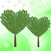 Abstrato base verde verde dos namorados — Vetor de Stock