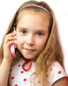 Little girl phone — Stock Photo