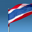 Thailand flag fluttering on the wind — Stock Photo