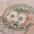 Singapore immigration stamp — Stock Photo