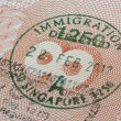 Stock Photo: Singapore immigration stamp