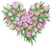 Bündel von tulpen — Stockvektor