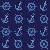 Nautical retro pattern — ストックベクタ