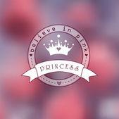 Princess logo — Stock Vector